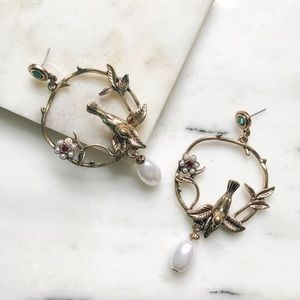 New Vintage Style Bird Earrings